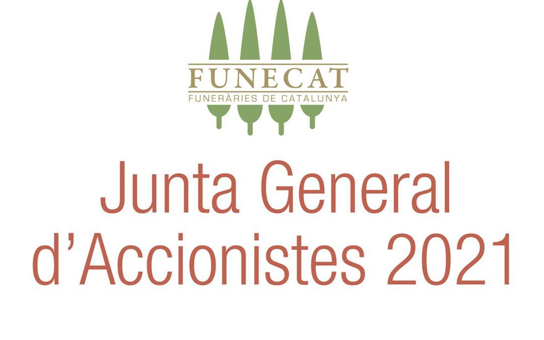 Convocatoria de junta general de Funecat 2021